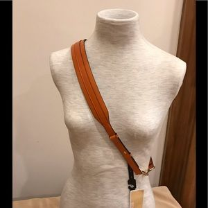 Michael Kors guitar strap, orange, beige and brown